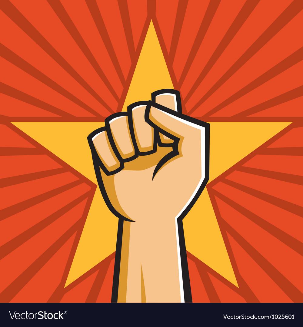 Soviet raised fist vector image
