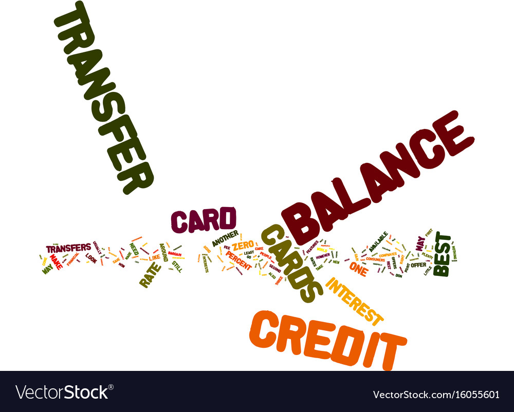 The best balance transfer credit cards text