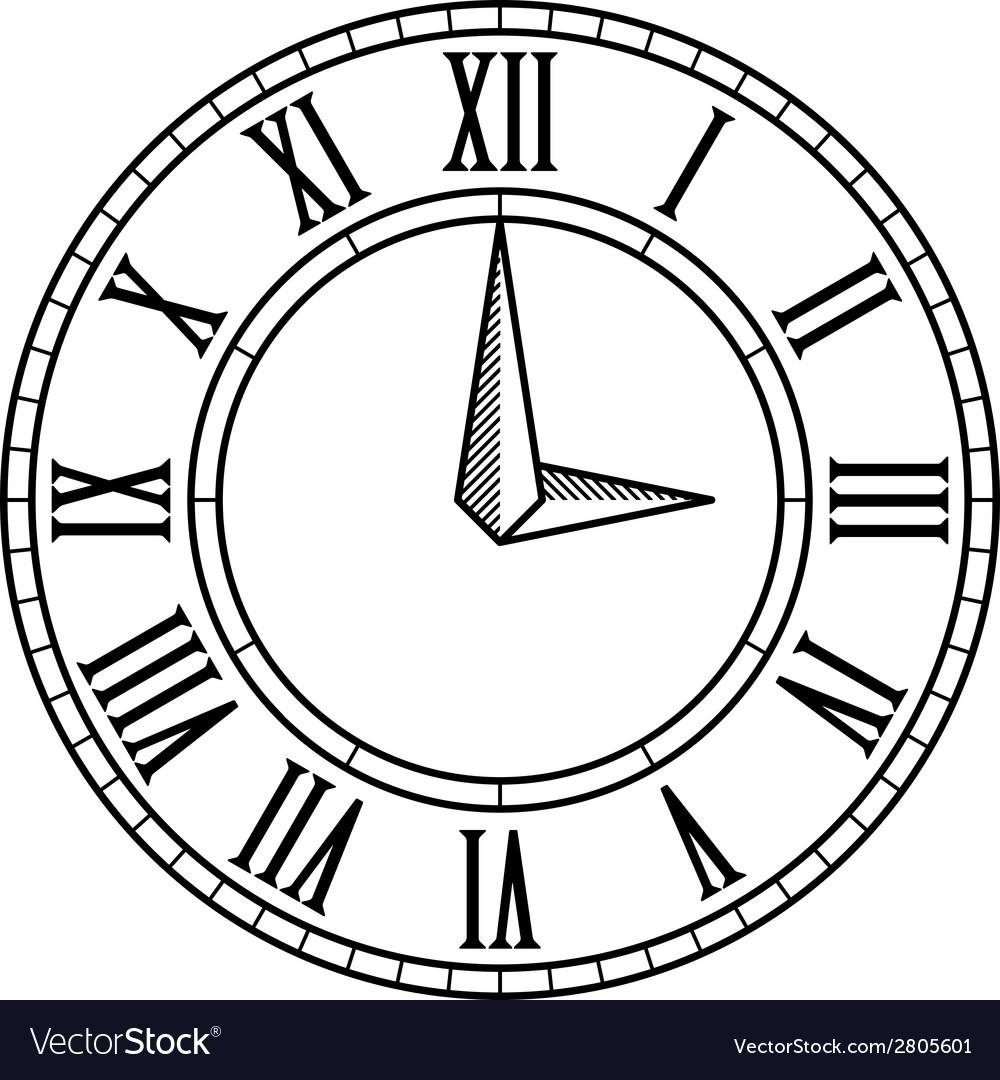 vintage antique clock face royalty free vector image