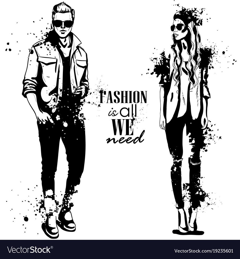 woman and man fashion royalty free vector image rh vectorstock com fashion factory fashion vector art