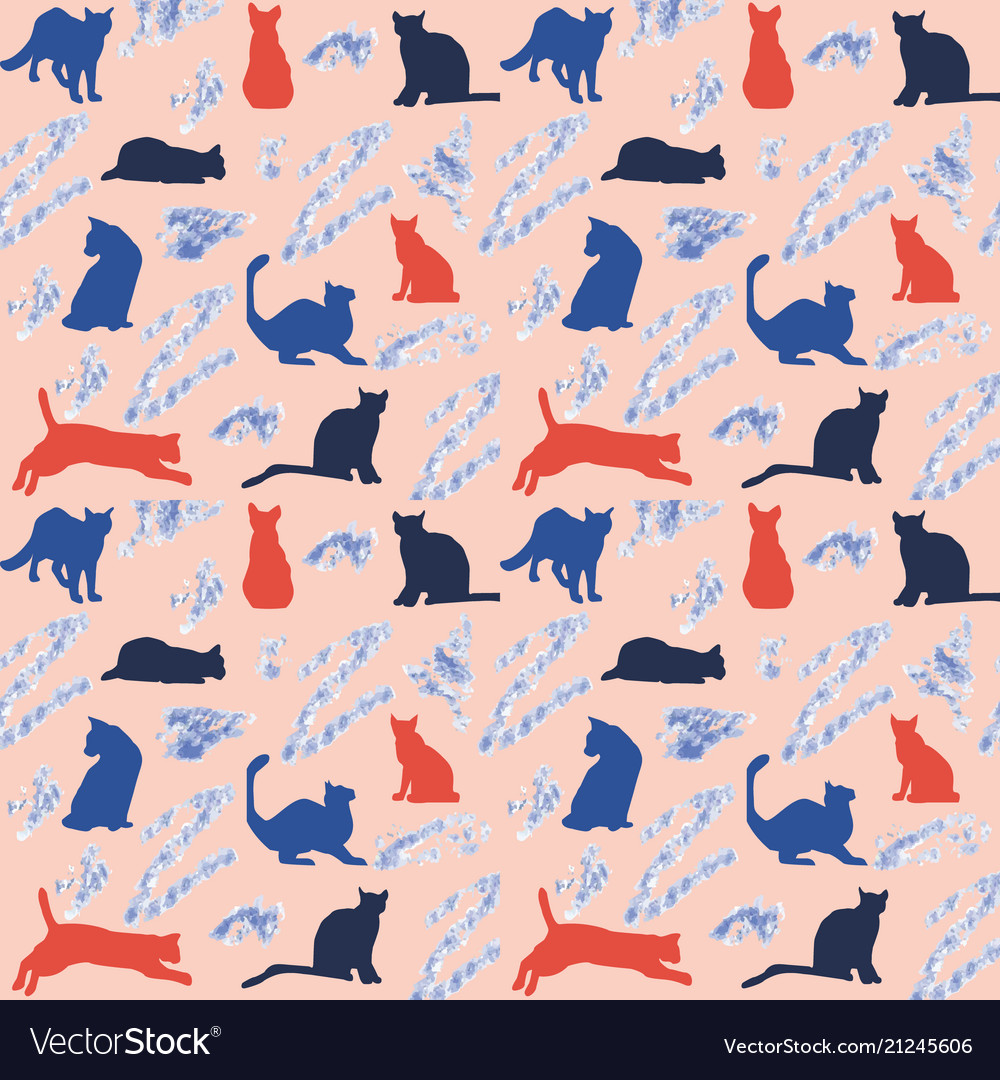 Background with colorful cats