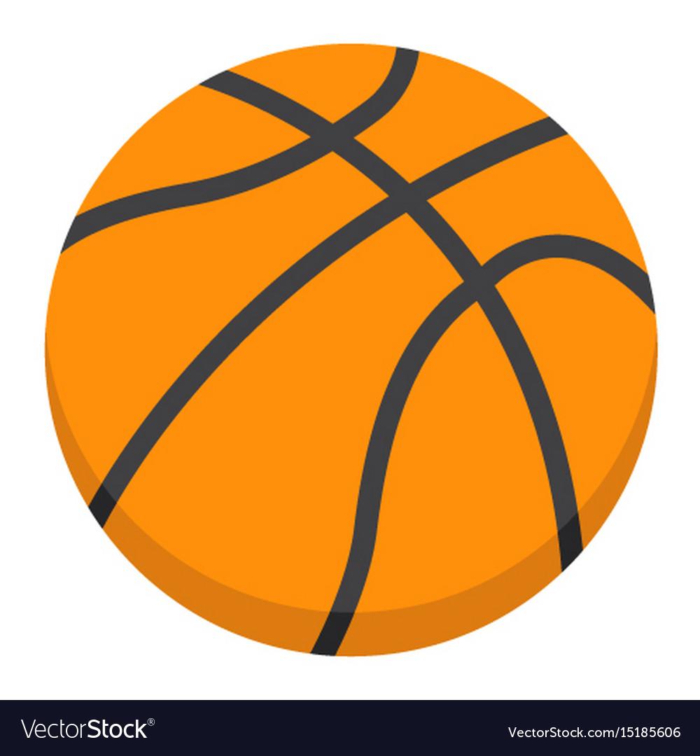 Basketball ball flat icon spor...