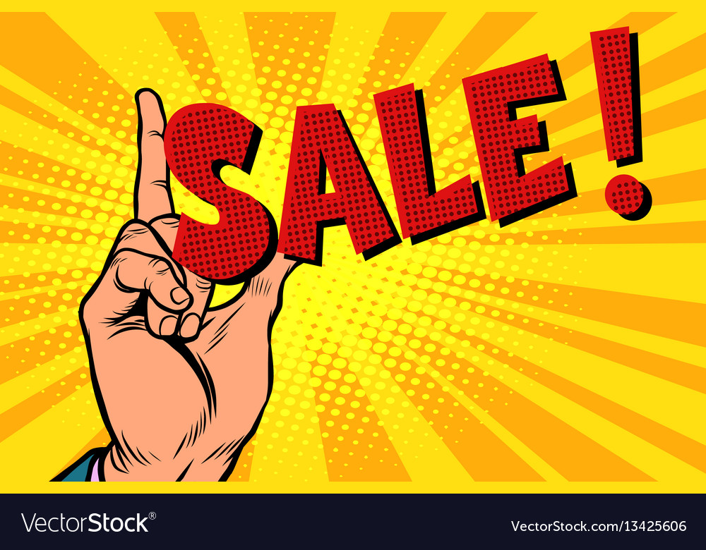 Business concept sale hand gesture