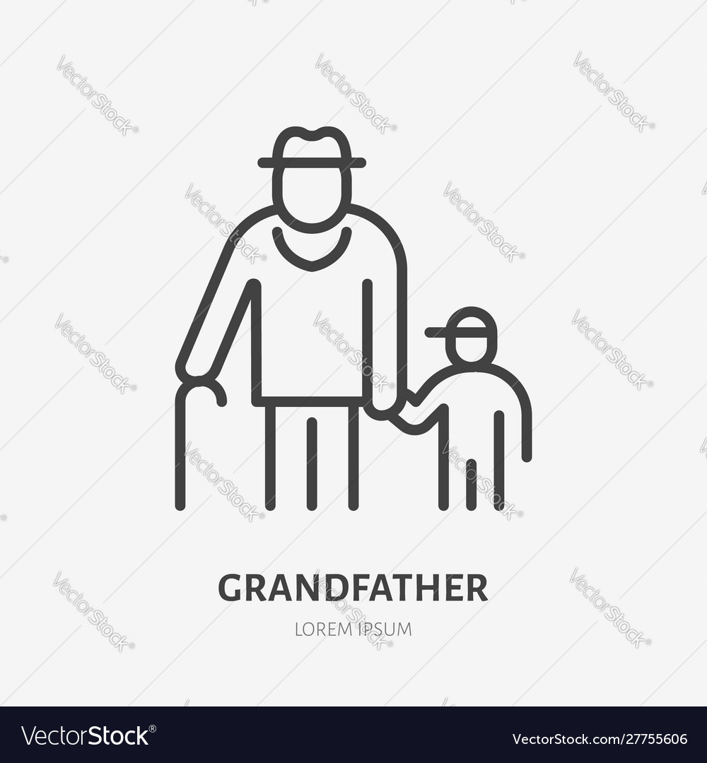 Family line icon pictograph grandfather