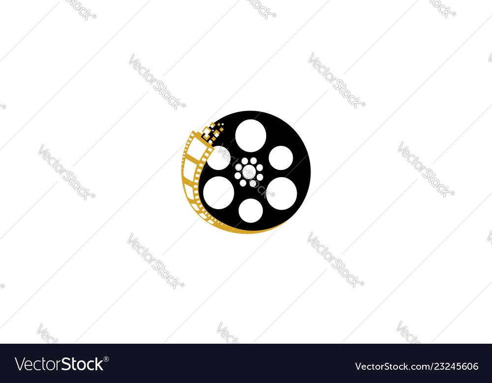 Movie Reel Logo Icon Royalty Free Vector Image