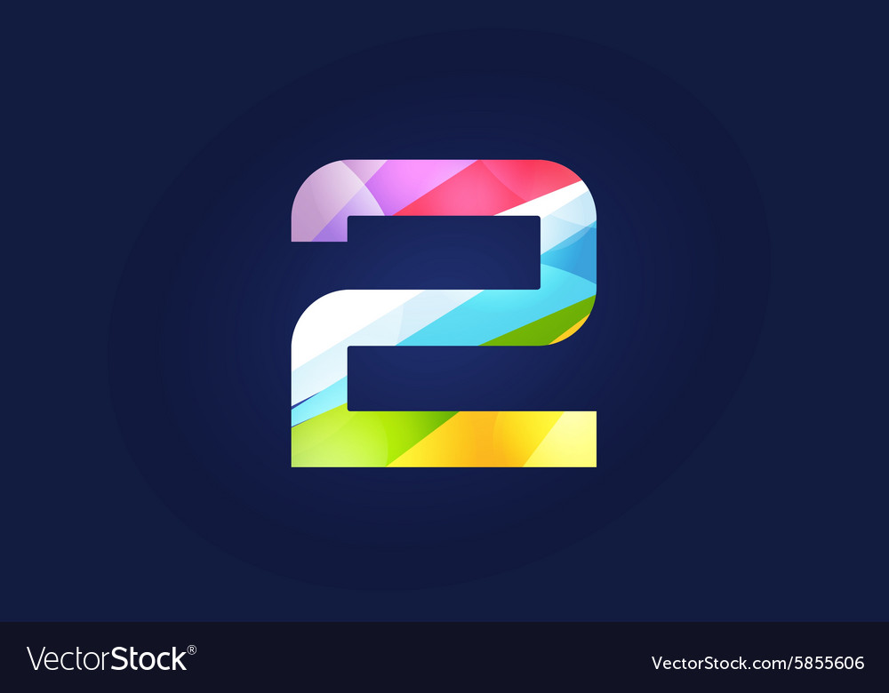 two 2 letter logo icon symbol royalty free vector image