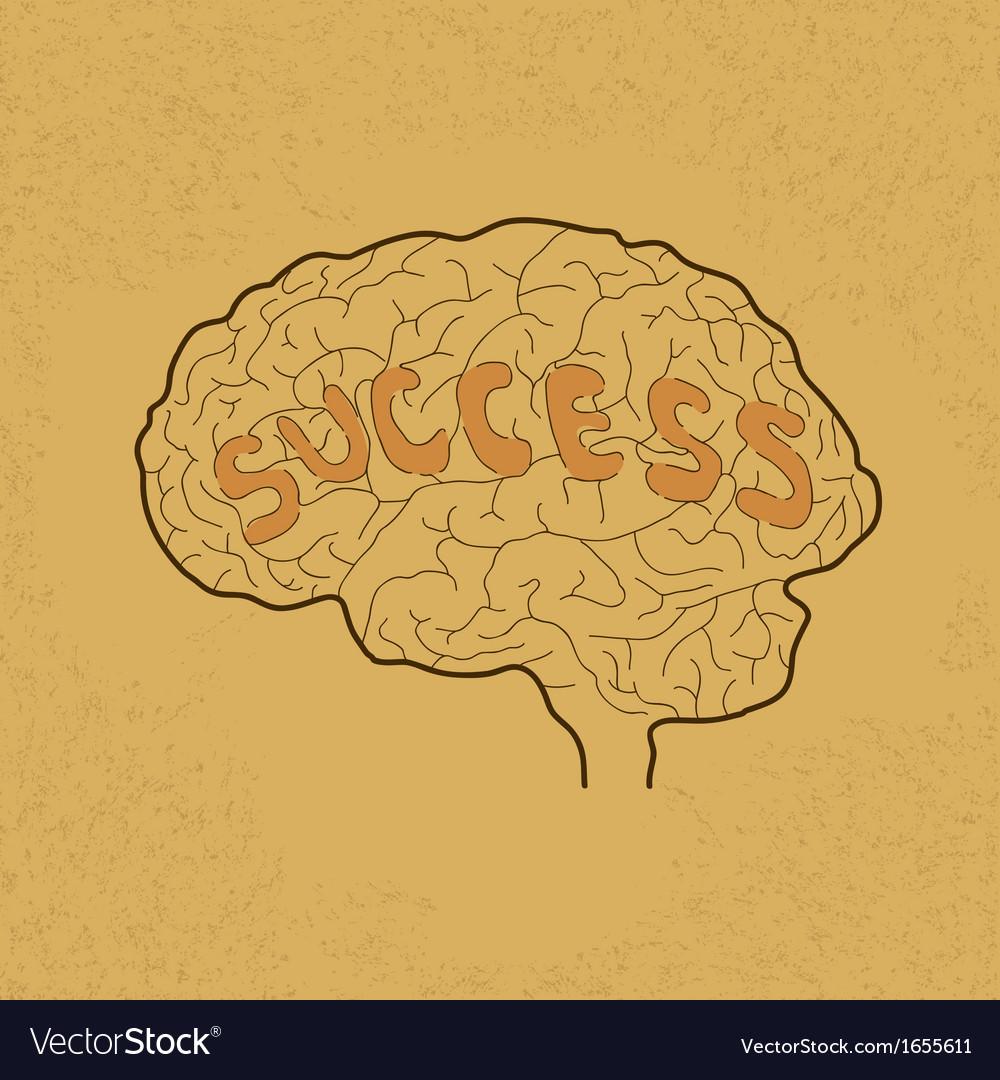 Brain Success vector image