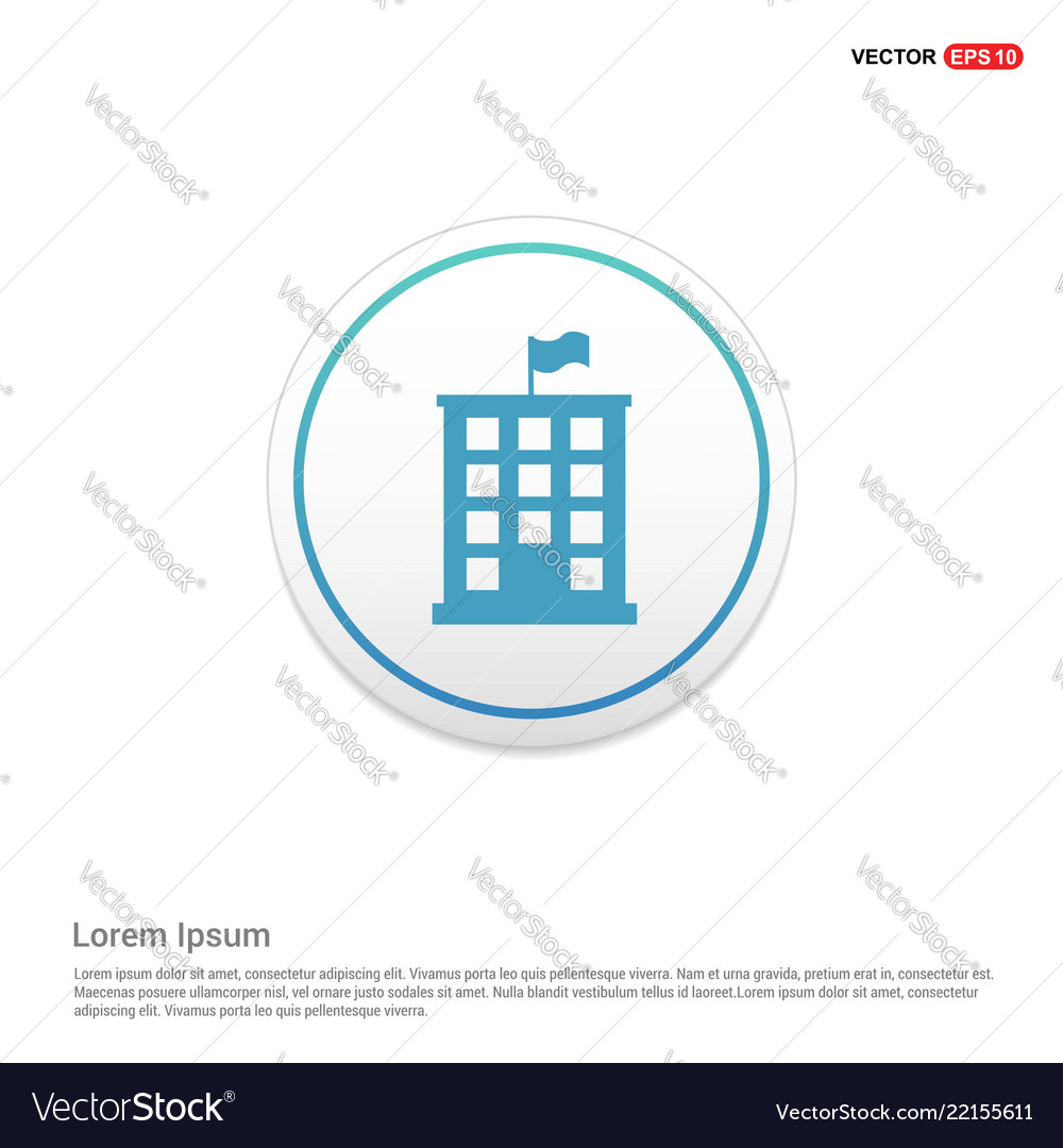 Building icon hexa white background icon template