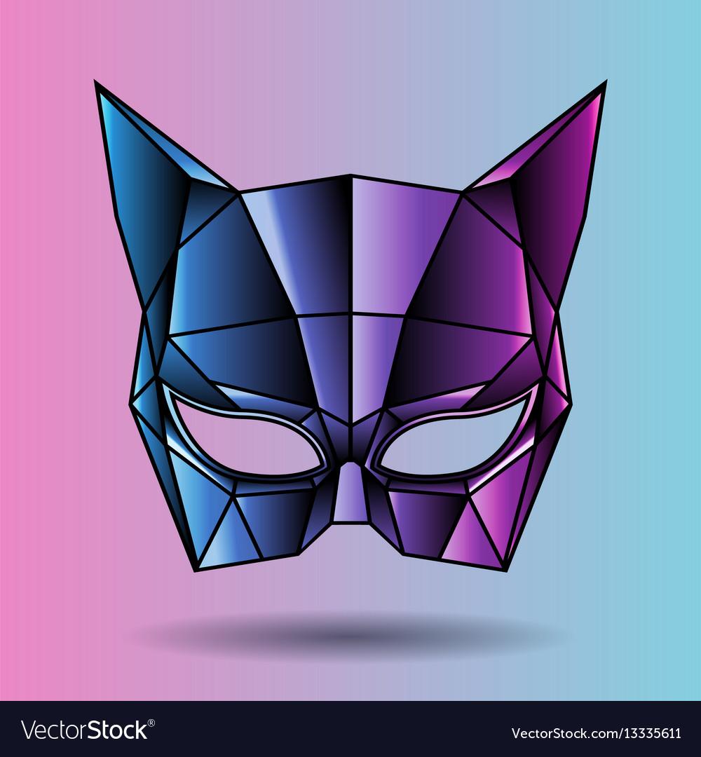 Colored mask superhero woman vector image