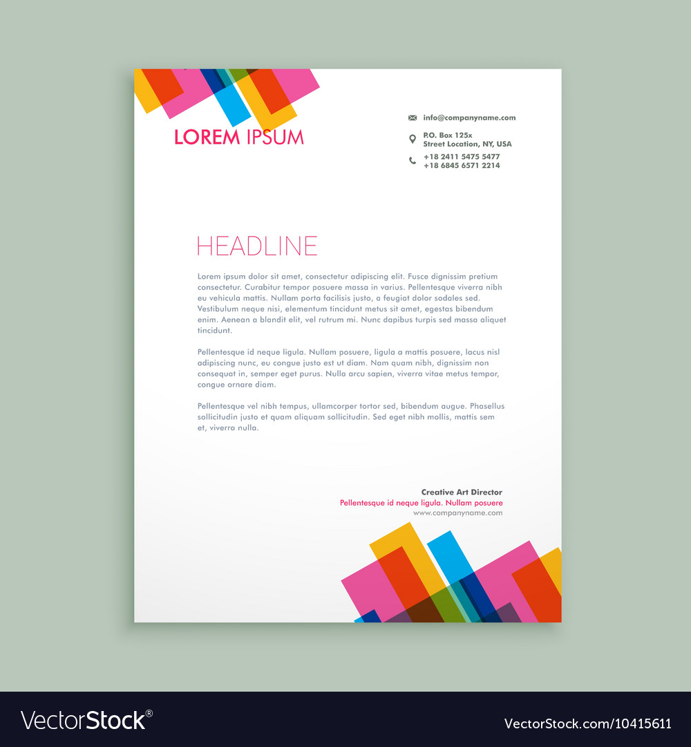 Colourful letterhead designs creative colorful letterhead design creative colorful letterhead design royalty free vector spiritdancerdesigns Gallery