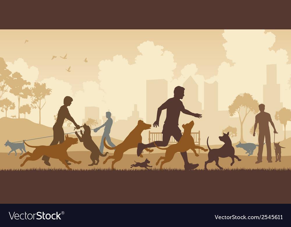 Dog park vector image
