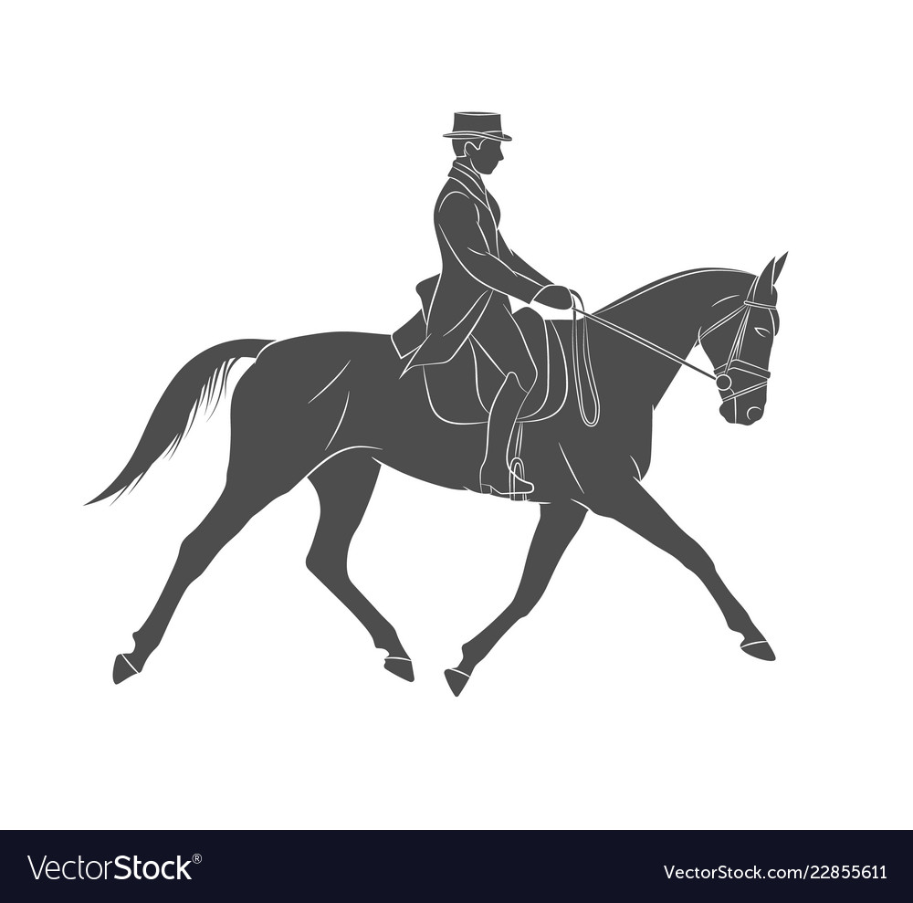 Equestrian sport jockey in uniform riding horse