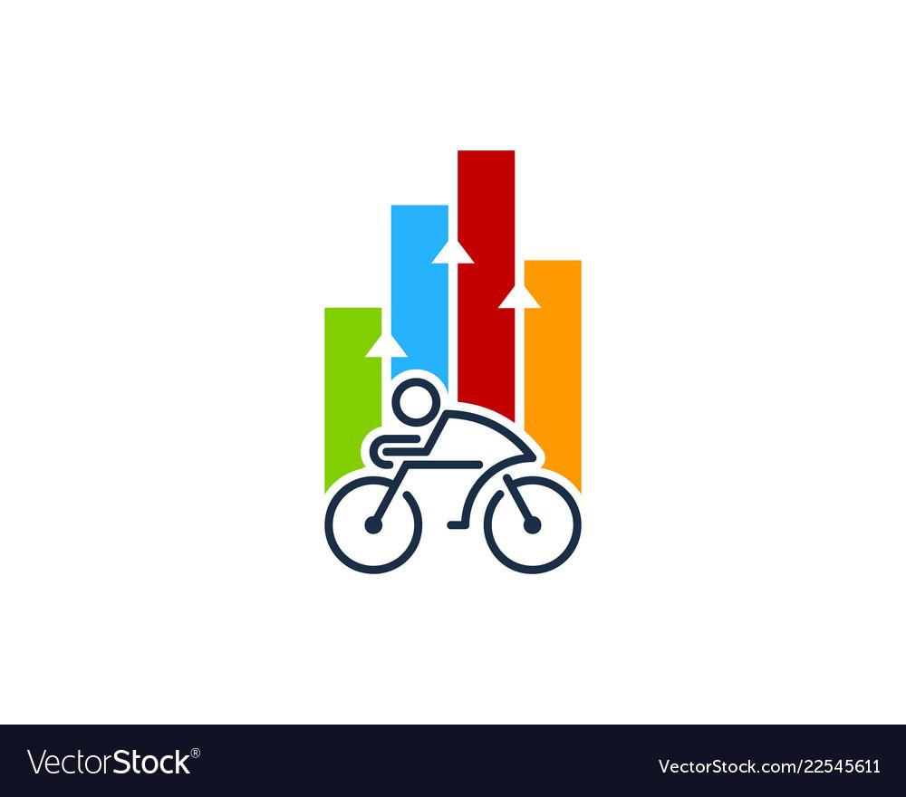Graph bike logo icon design