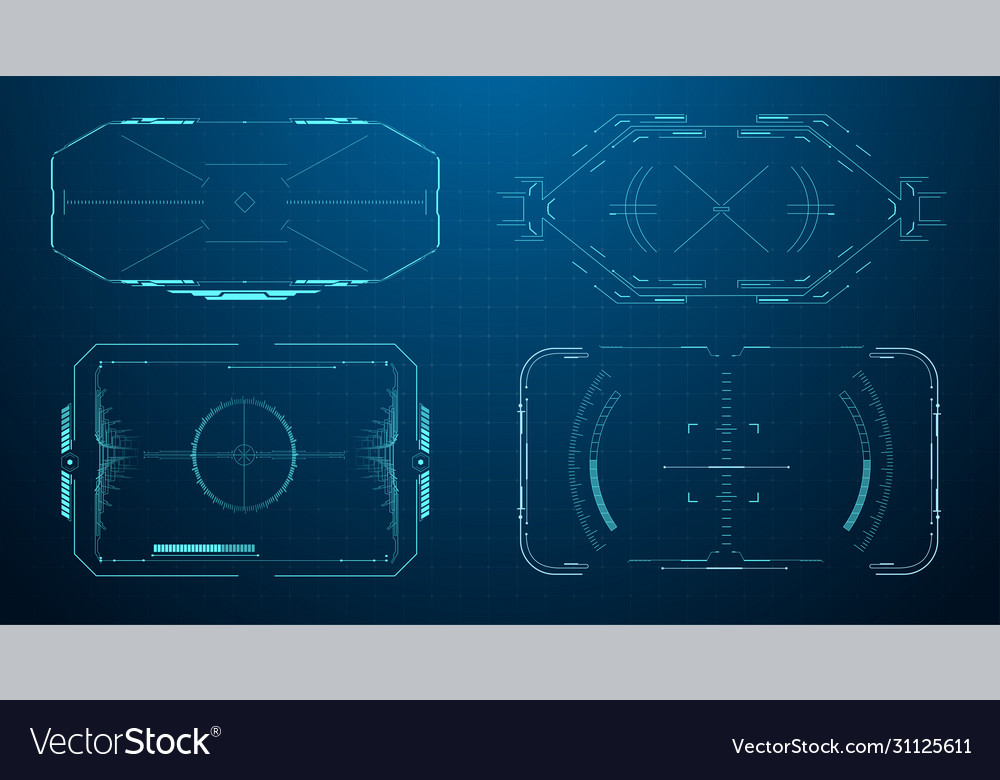 hud futuristic frame game target borders sci fi vector image vectorstock
