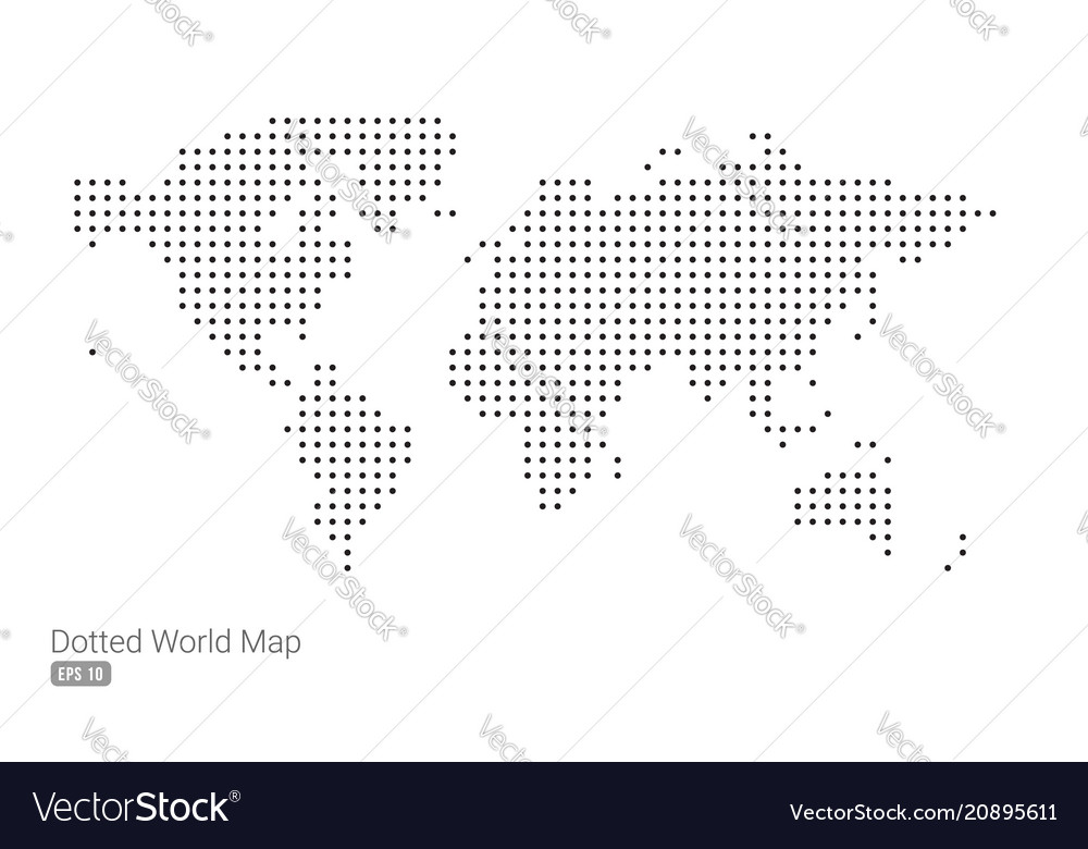 Minimal dotted world-map