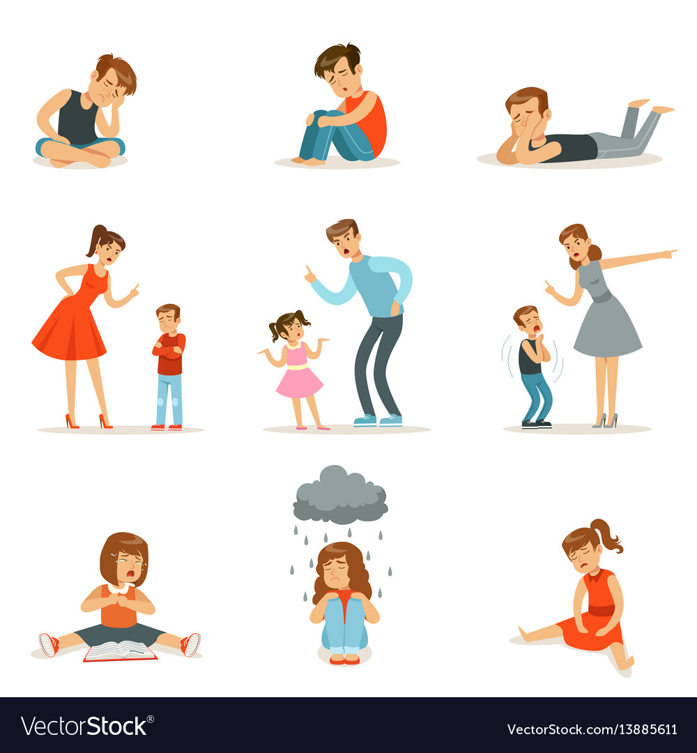 Mutual relations parents and children mom and