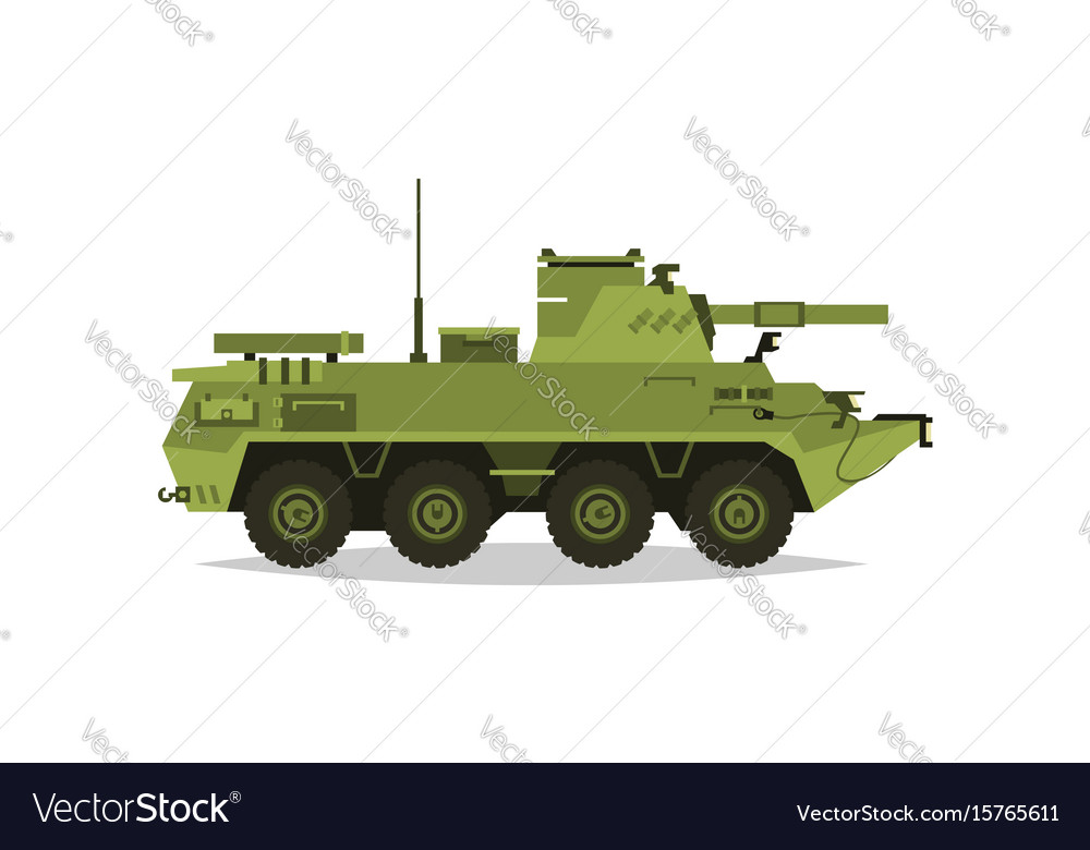 Self-propelled artillery unit research vector image