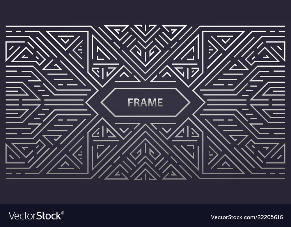 Abstract monogram geometric frame vintage