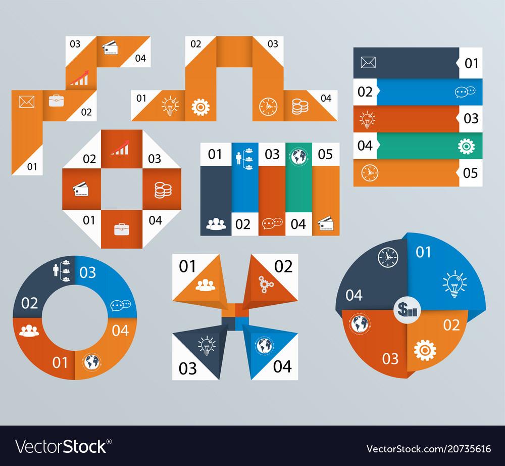 Elements infographics pie charts