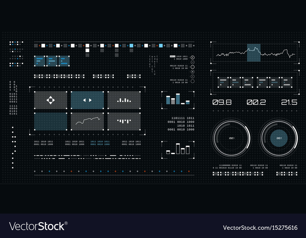 Futuristic user interface spaceship screen vector image