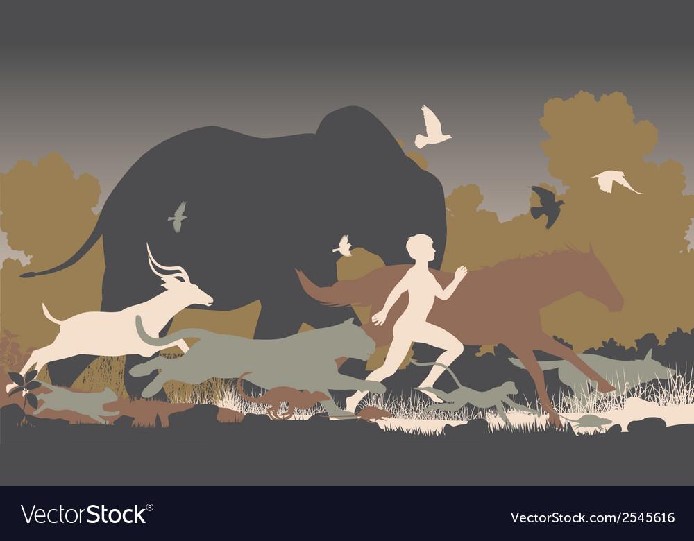Natural runner vector image