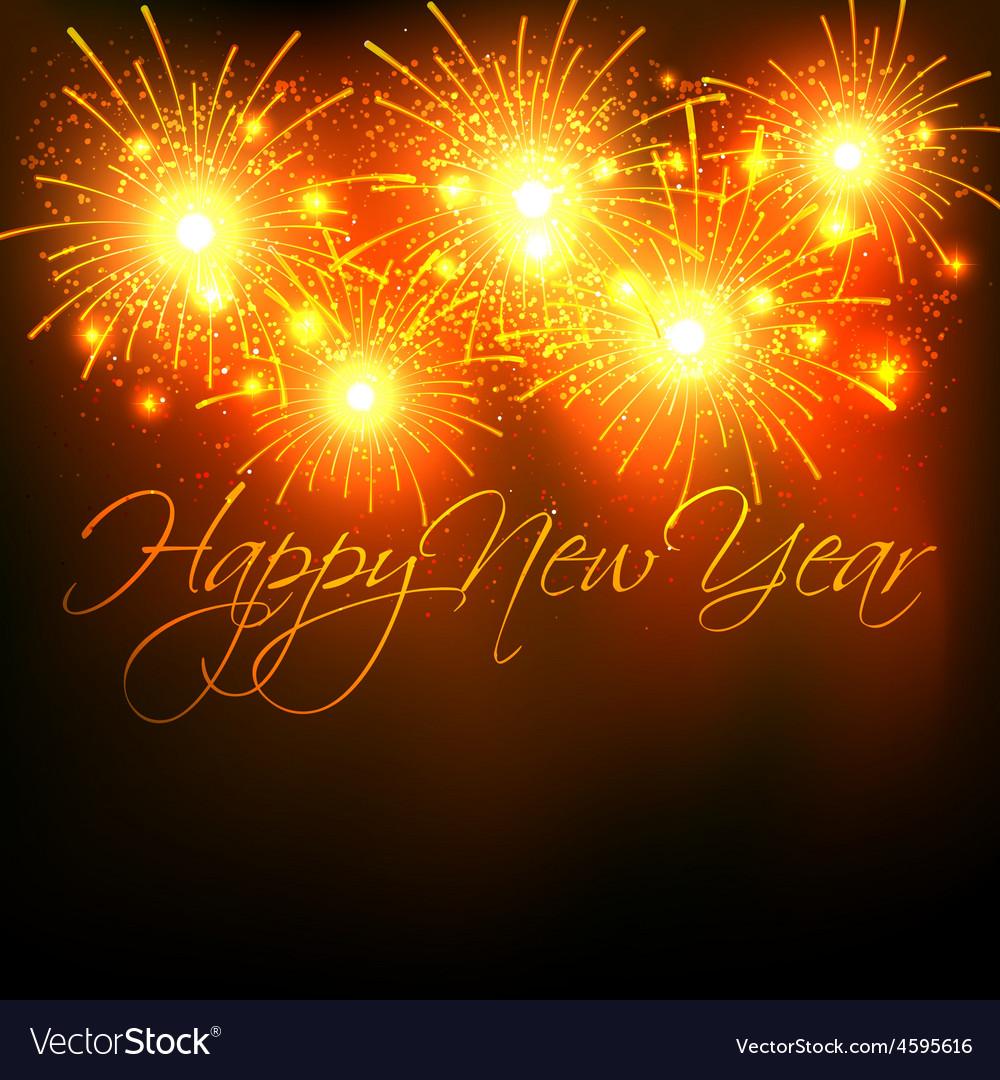 New year fireworks celebration