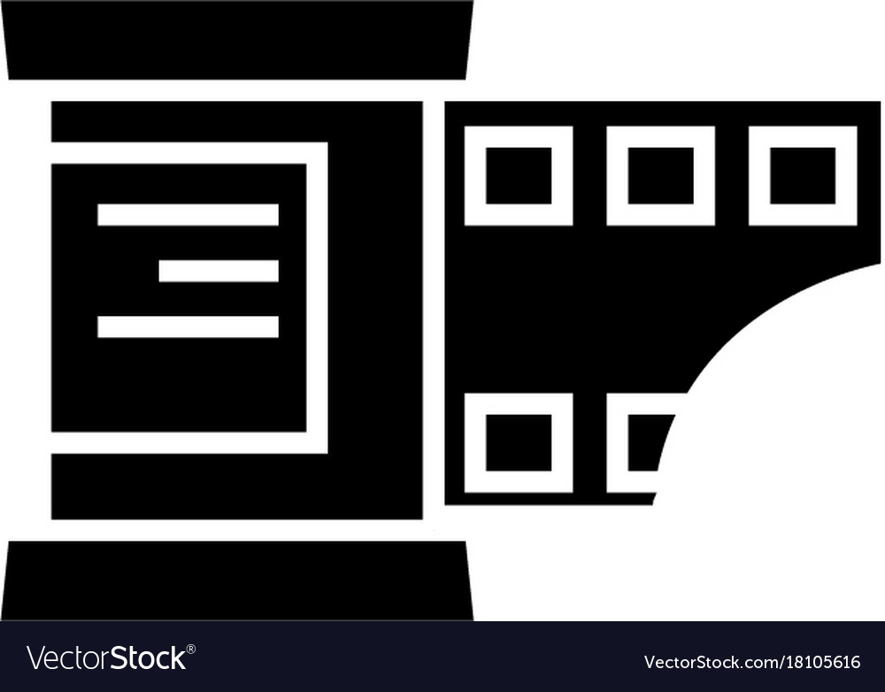 Photo strip icon black sign