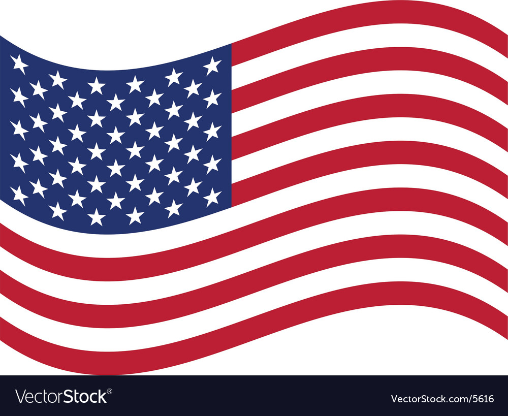 usa flag royalty free vector image vectorstock