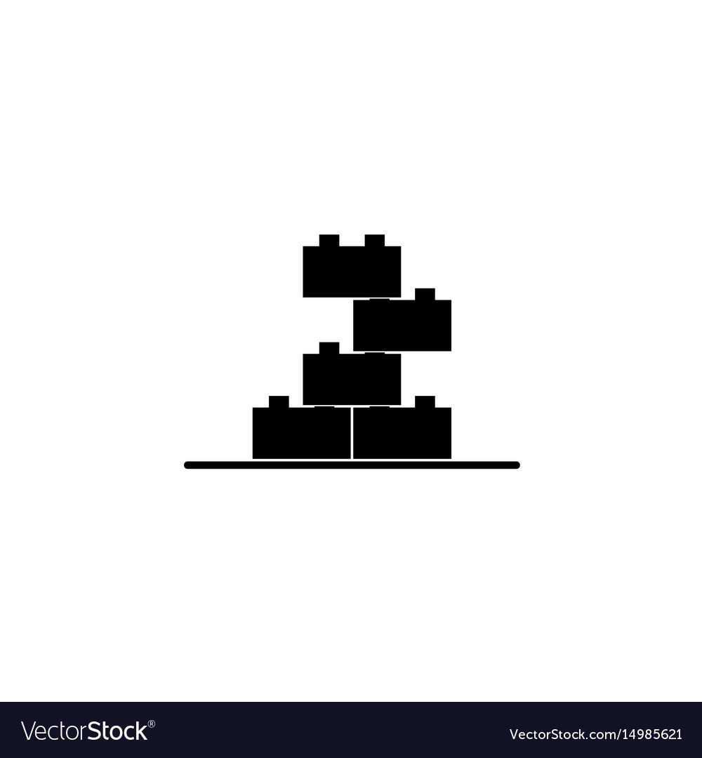 Building block toy icon vector image