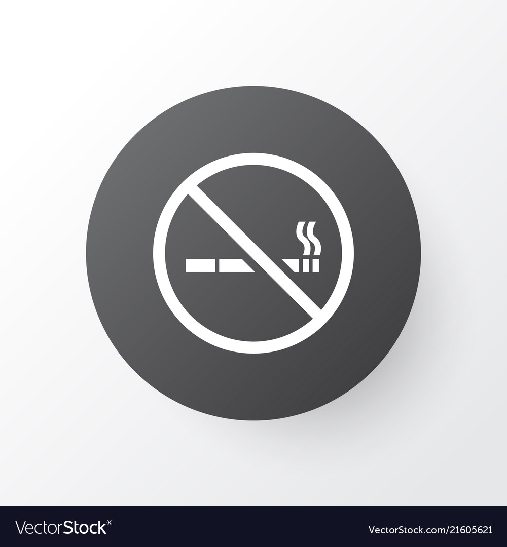 No Smoking Icon Symbol Premium Quality Isolated Vector Image
