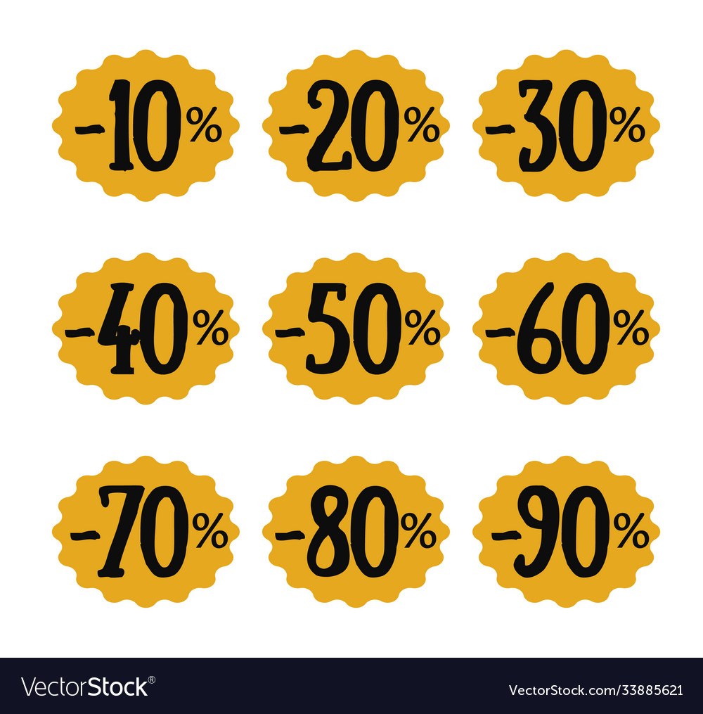 Set discount numbers templates