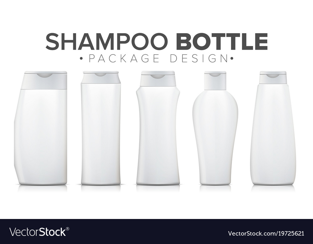shampoo bottle mock up template plastic royalty free vector