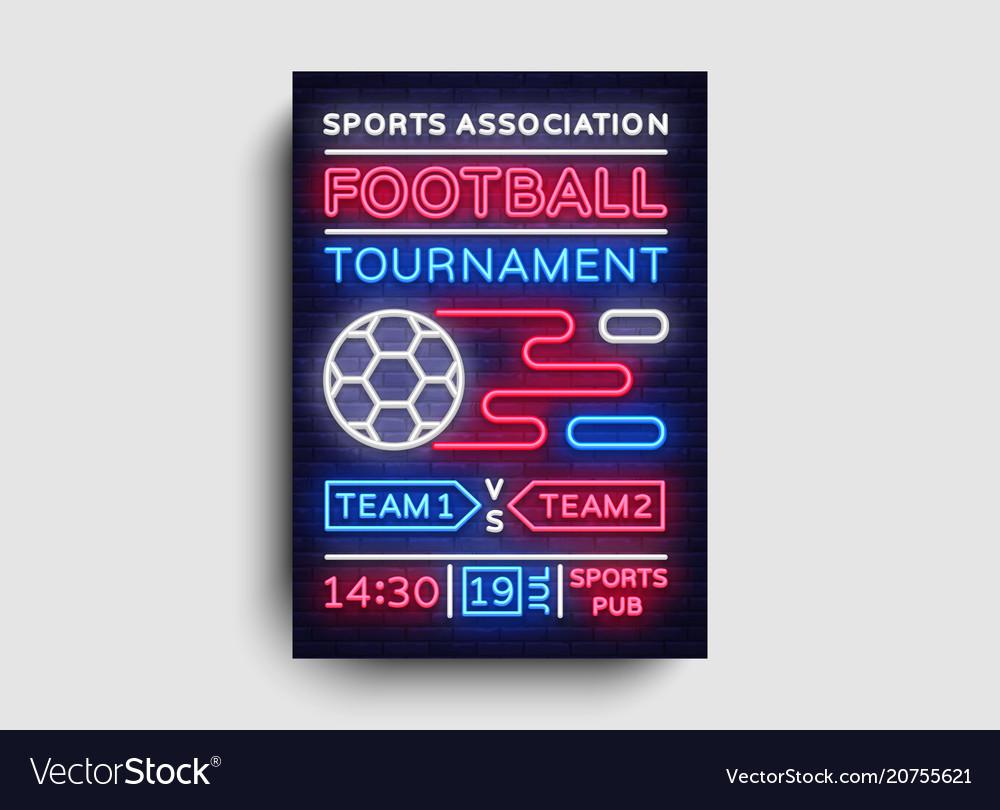 Soccer tournament flyer european football