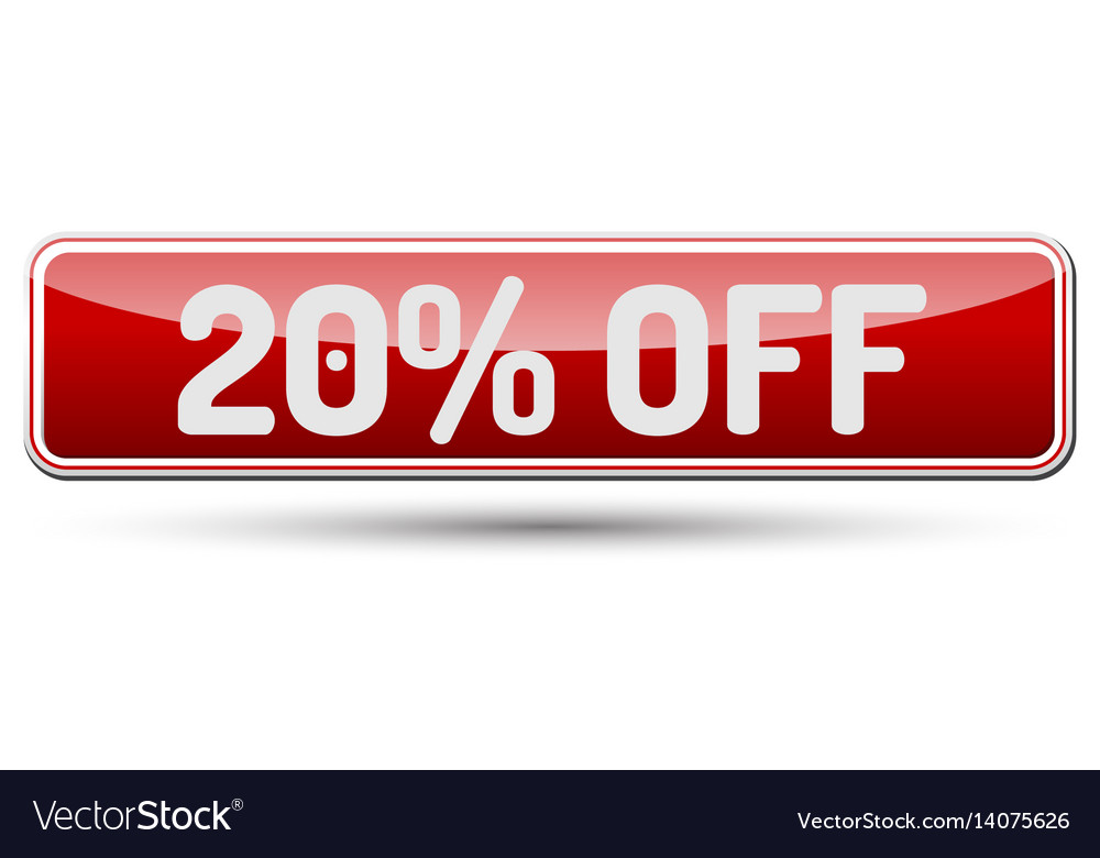 20 off - abstract beautiful button with text vector image