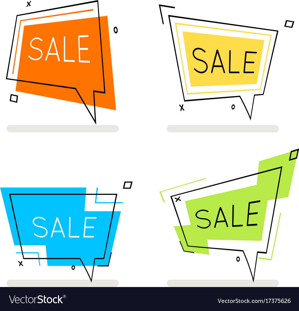 Abstract line art sale frame banner card element