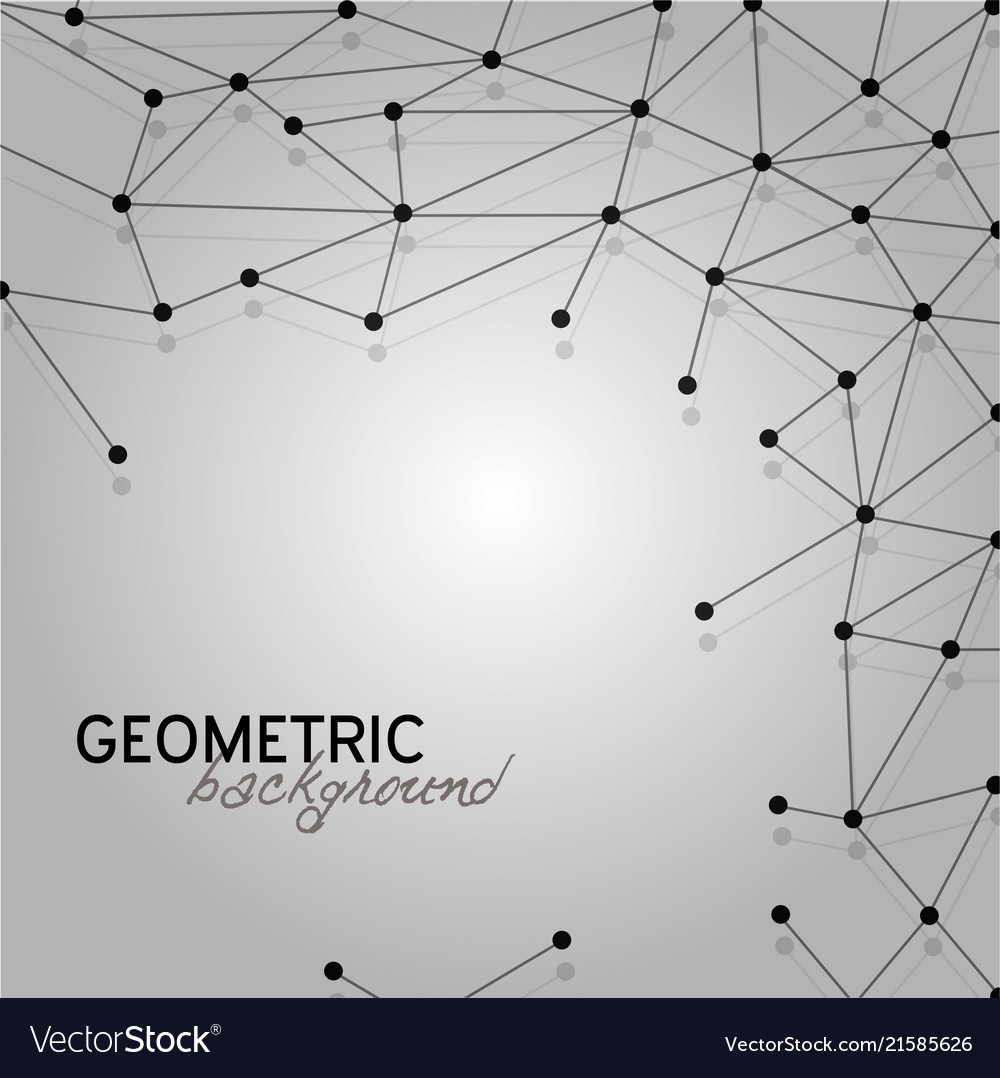 Abstract pattern connection geometric background