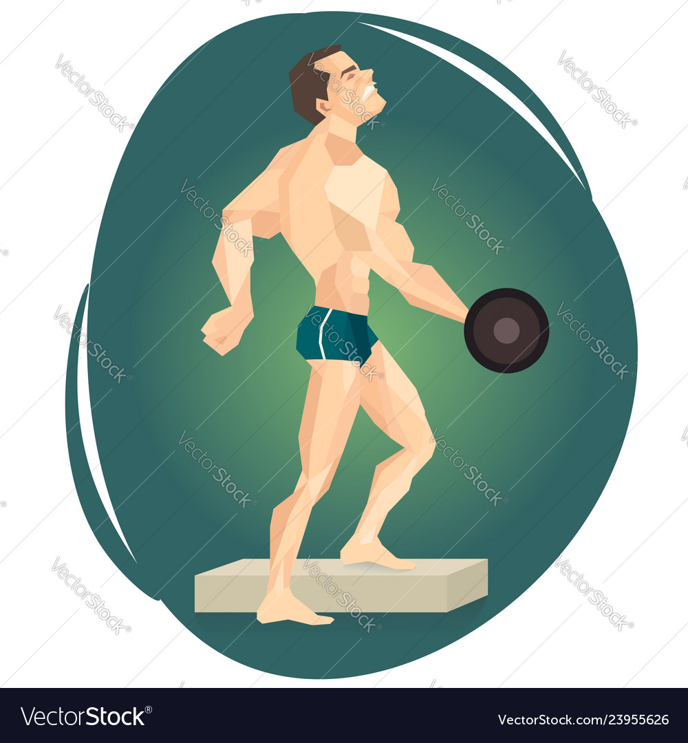 An athlete weightlifter