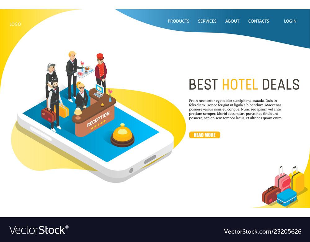 Best hotel deals landing page website
