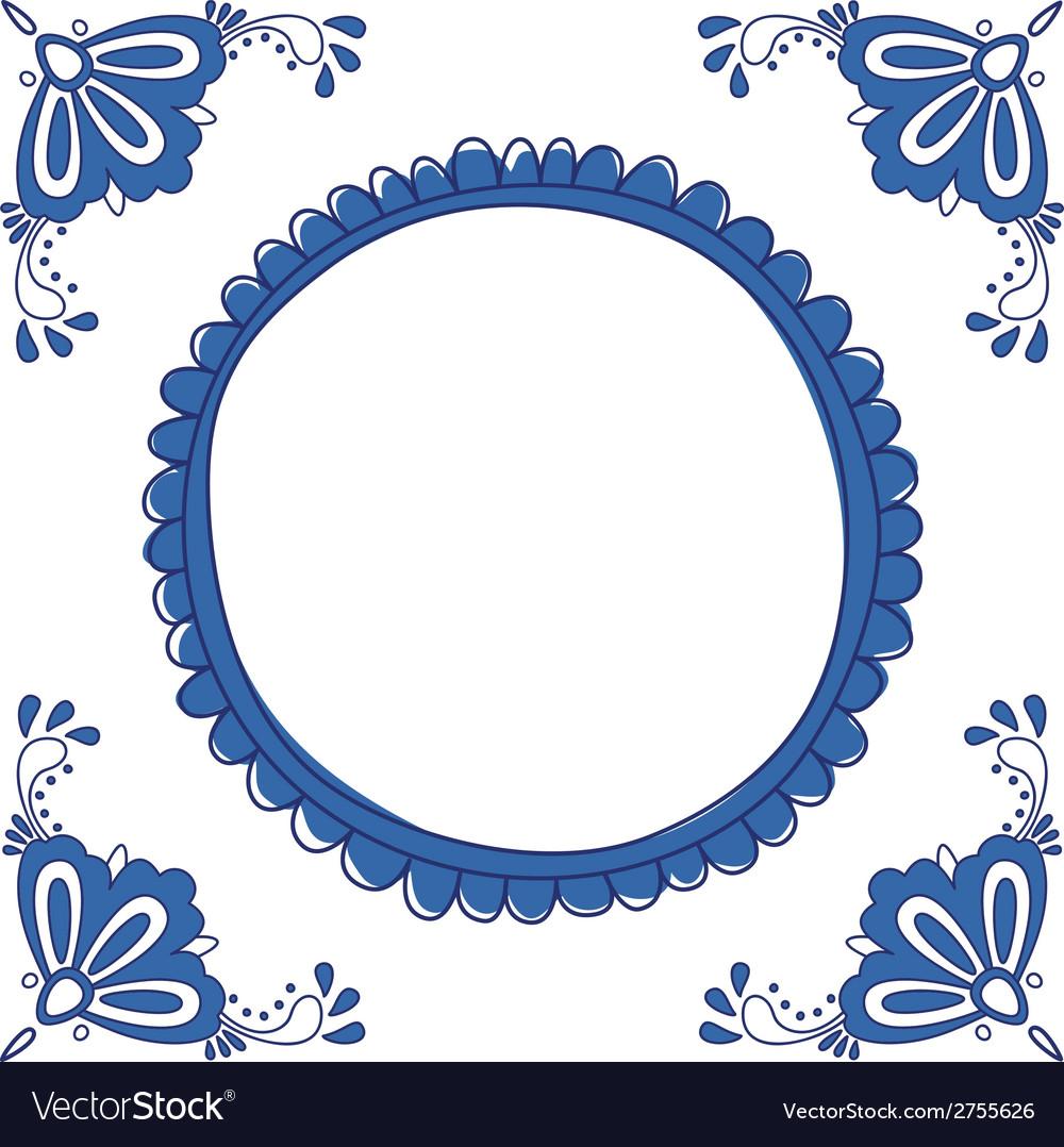 Delft blue empty