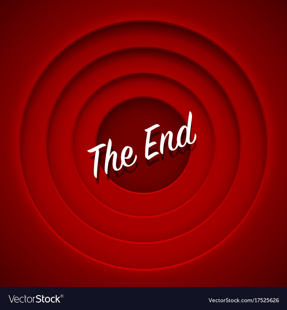 screen-movie-the-end-red-background-vect