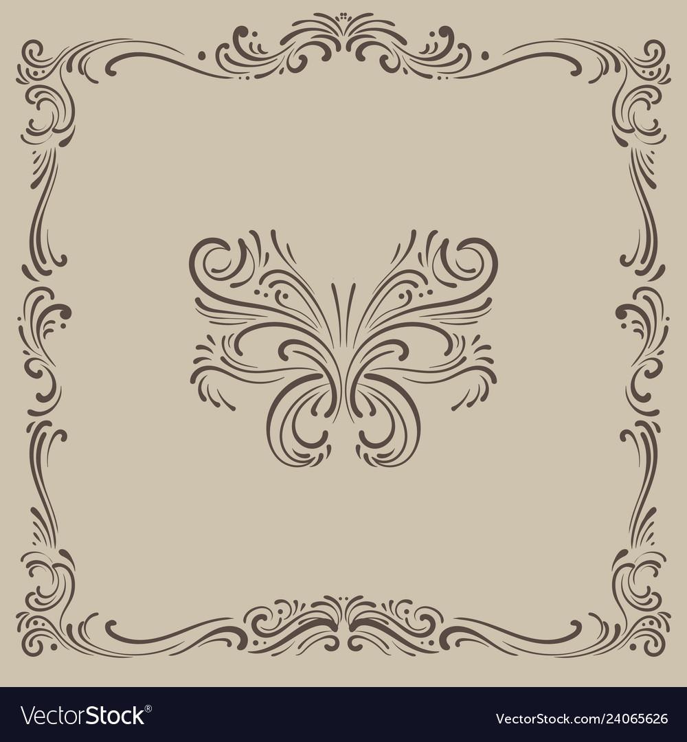 Tracery ornament vintage pattern