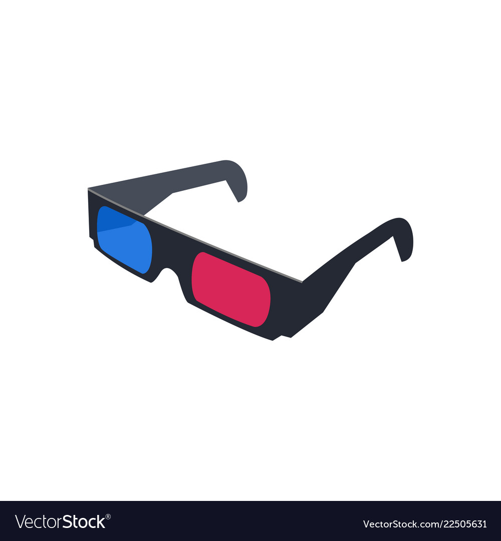 3d glasses logo icon design template isolated vector