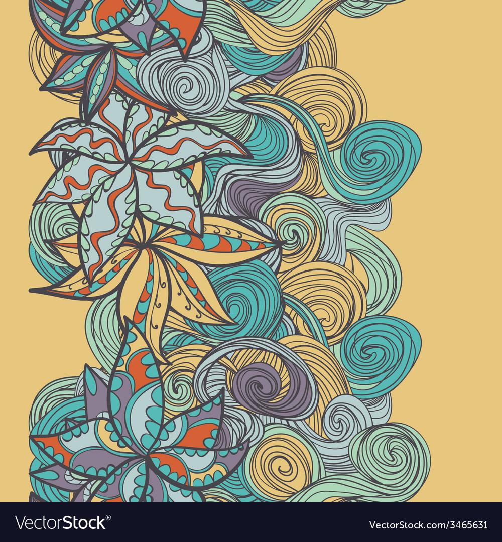 Abstract seamless hand-drawn border