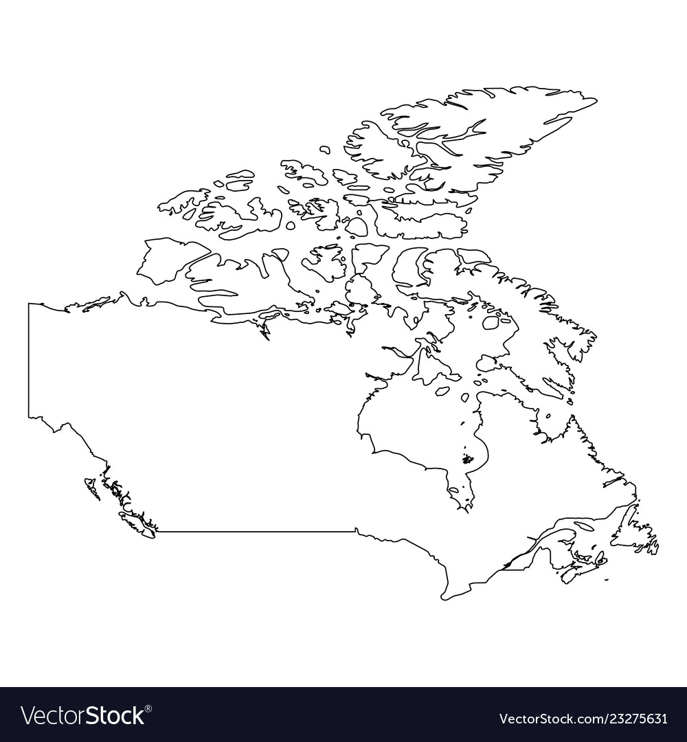 Canada Map Outline