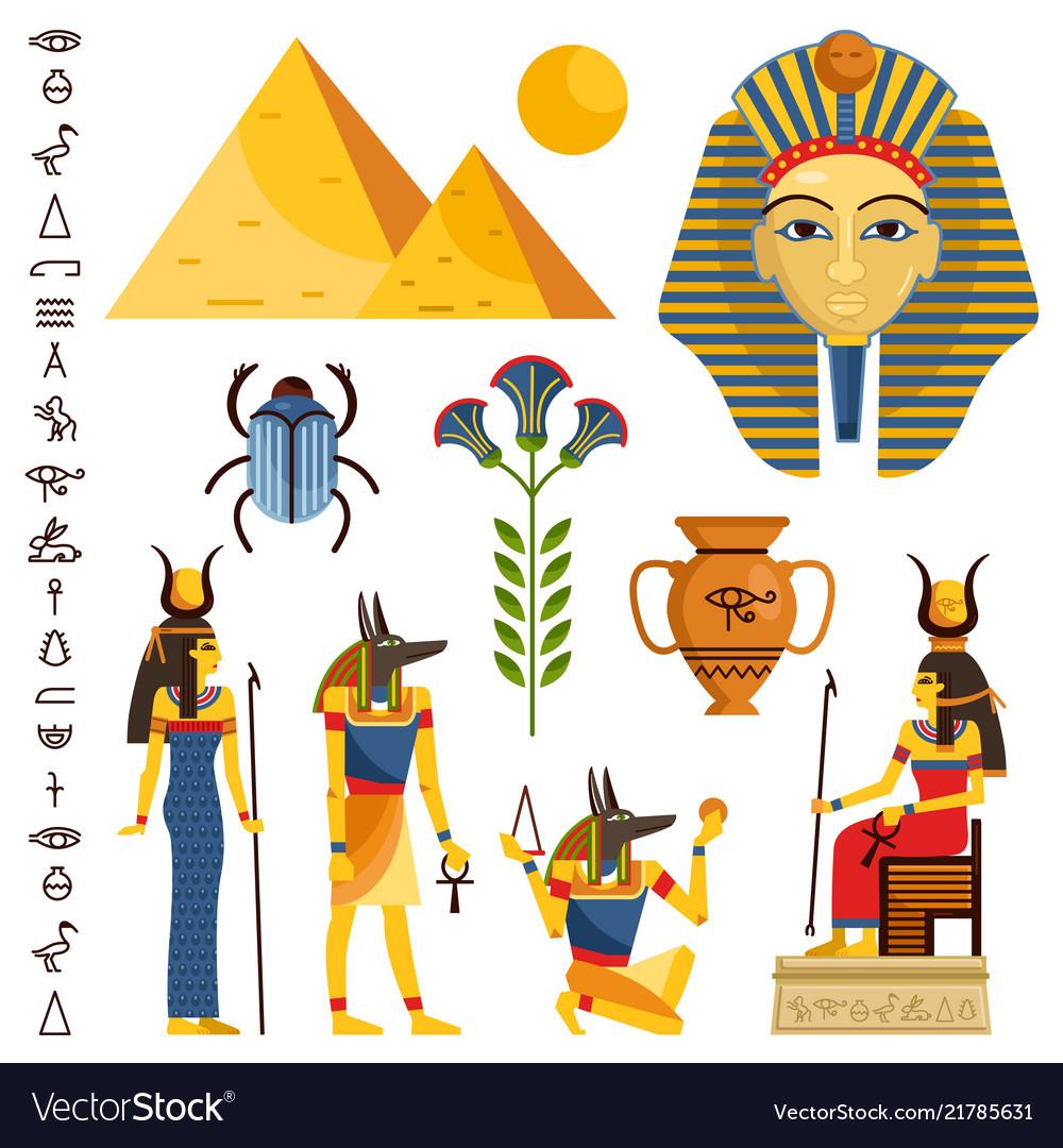 Egypt set of ancient egyptian idols statues