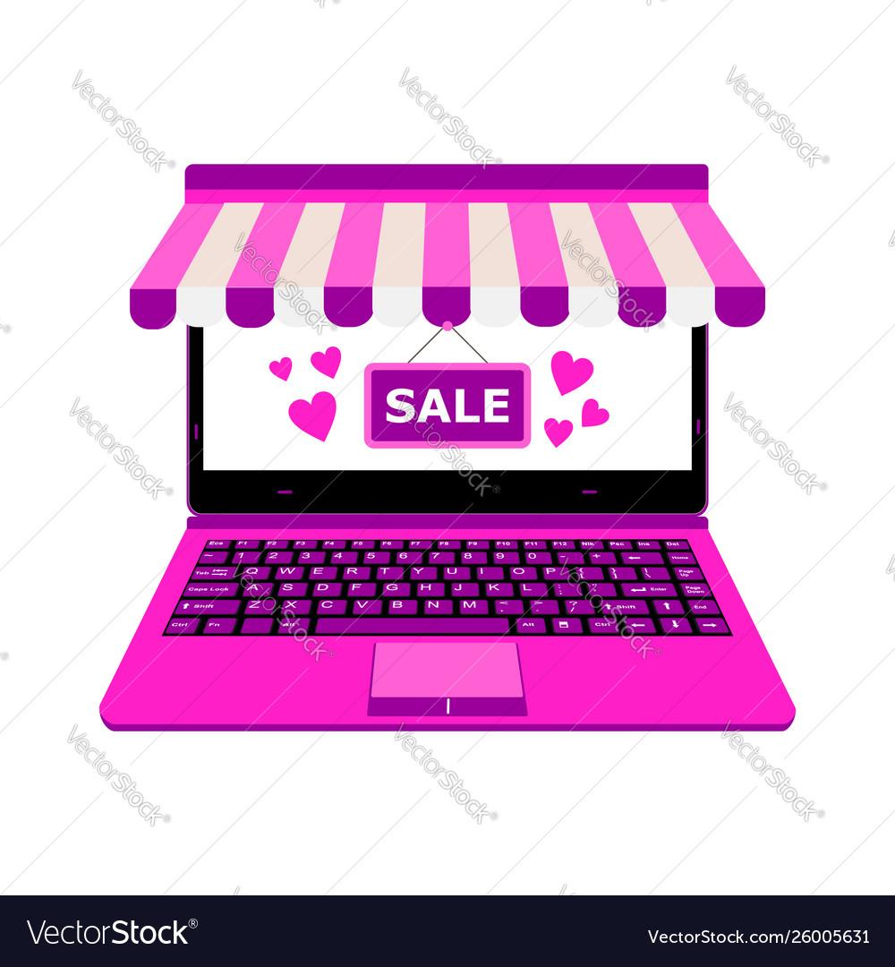 Laptop for online shop payment