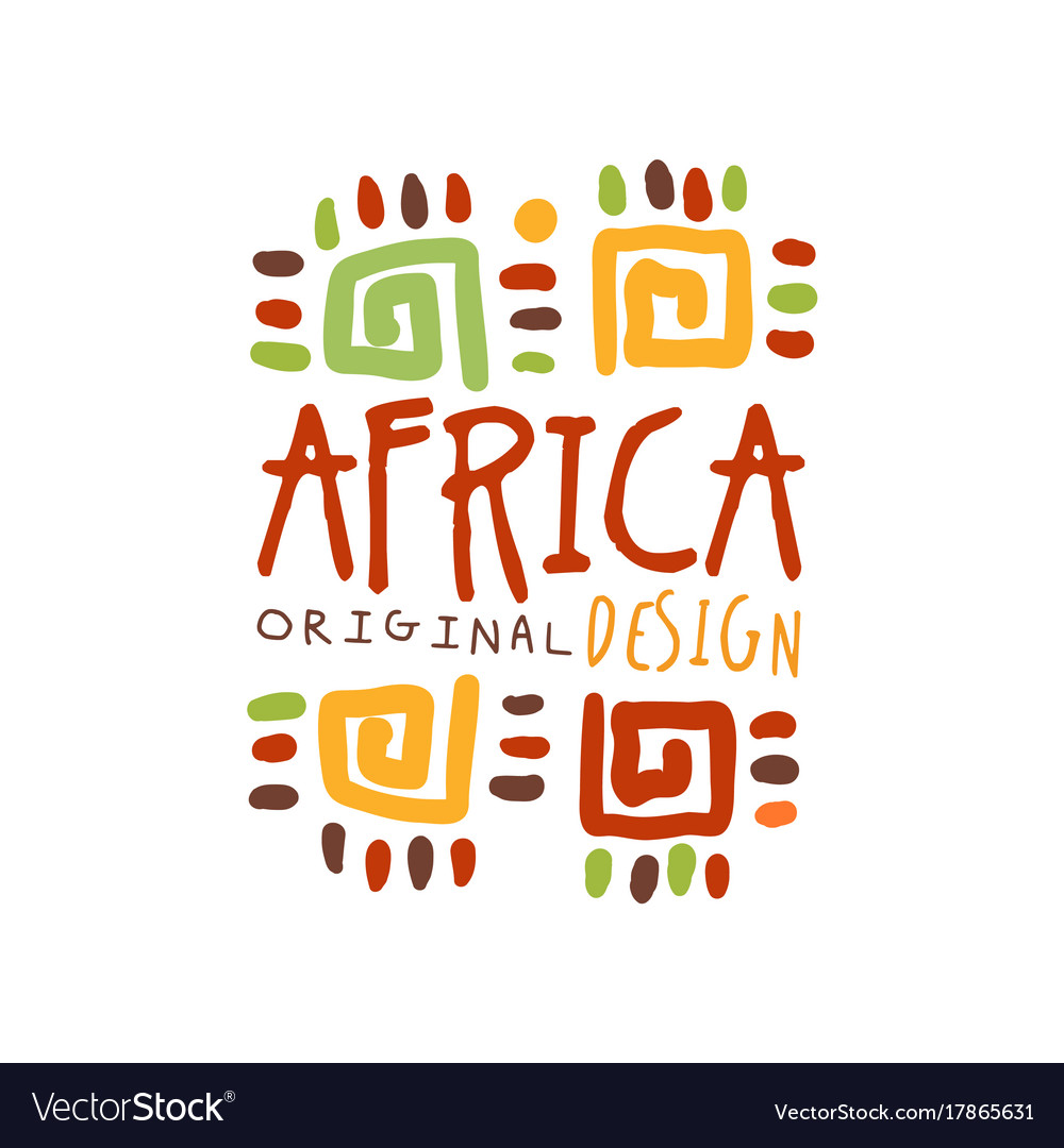 original african tribal ornamental logo royalty free vector