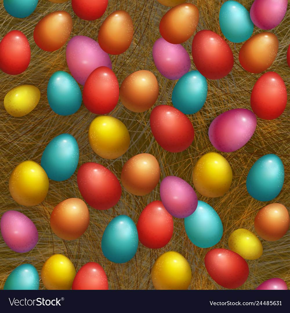 Seamless background happy easter holiday