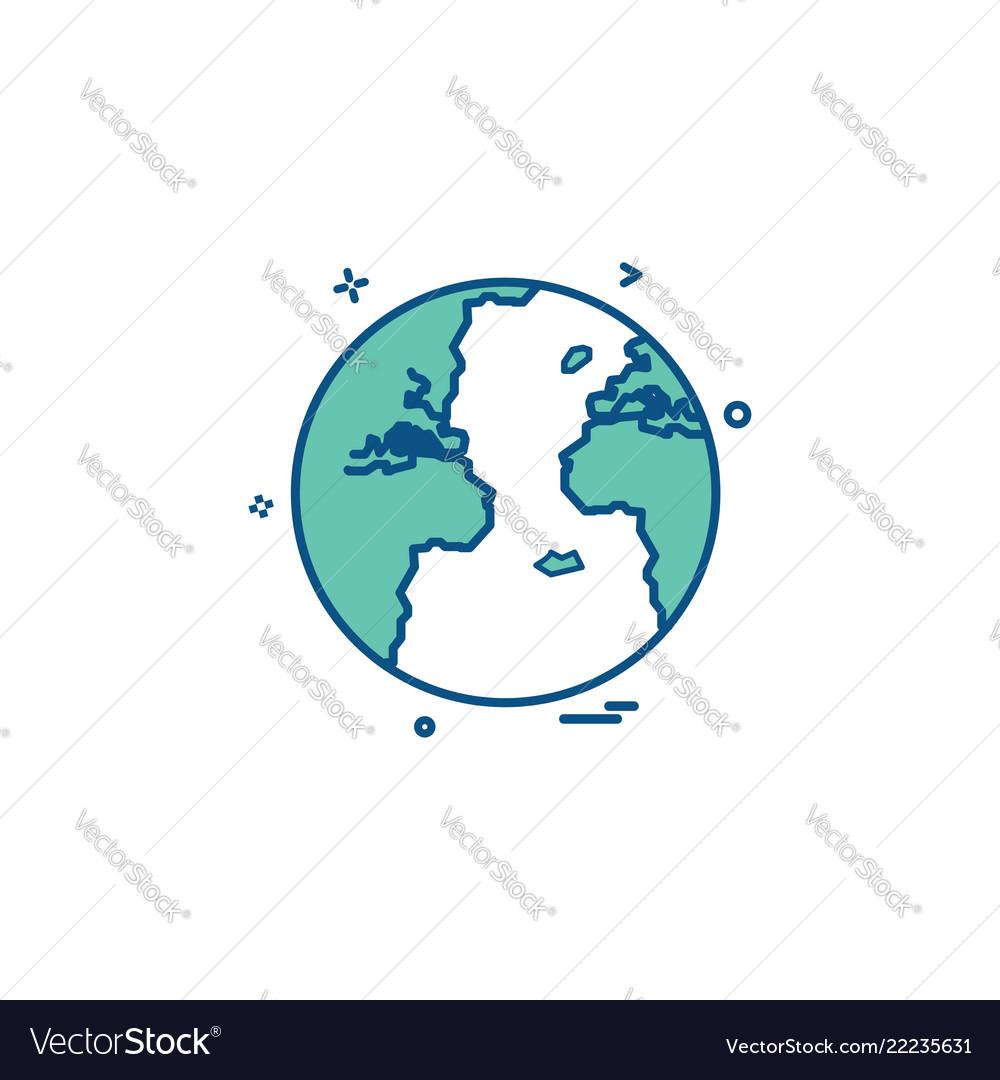 World globe icon design