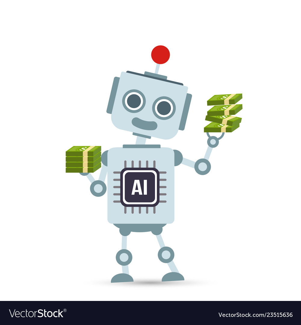 Ai artificial intelligence technology robot Vector Image